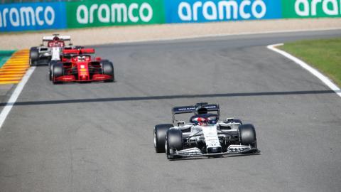 Vettel y Ferrari en Spa