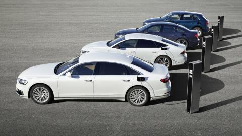 Coches híbridos enchufables de Audi