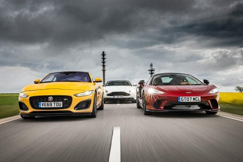 Comparativa: Aston Martin DB11, Jaguar F-Type R y McLaren GT