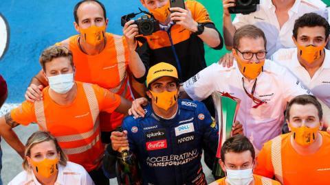 Sainz podio Monza