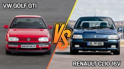 VW Golf GTI III vs Renault Clio 16V