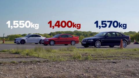 BMW M2 Competition vs BMW M3 E46 vs BMW M3 E36