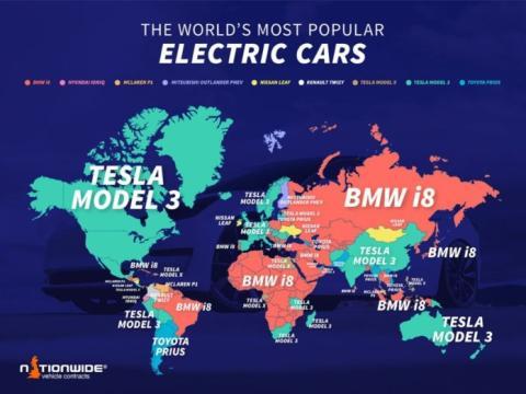 Coches eléctricos más buscados en Google