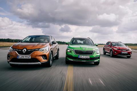 Comparamos el Renault Captur, el Skoda Kamiq y el Kia Stonic