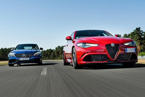Comparativa del Alfa Romeo Giulia Quadrifoglio Verde vs Mercedes AMG C 63 S
