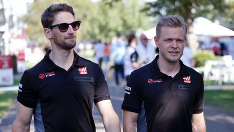 Grosjean y Magnussen
