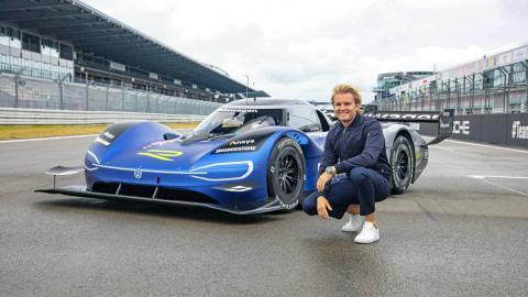 Nico Rosberg y el VW ID.R