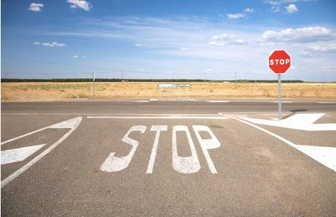 STOP carretera
