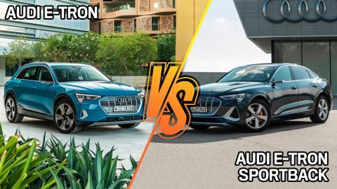 7 diferencias entre el Audi e-tron y el Audi e-tron Sportback