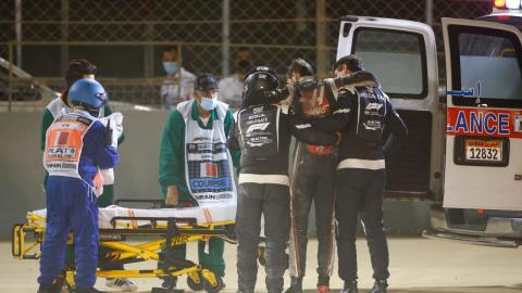 Accidente de Romain Grosjean en Bahrein