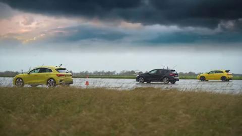 Audi S3 vs BMW M135i vs Mercedes-AMG A 35