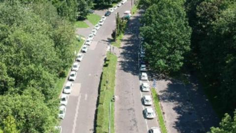 El mayor desfile de coches híbridos del mundo