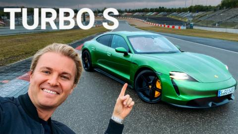Nico Rosberg Porsche Taycan Turbo S Nürburgring