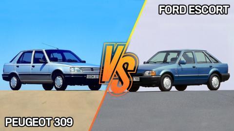 Peugeot 309 vs Ford Escort Mk4