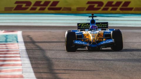 Alonso Renault F1 Abu Dhabi