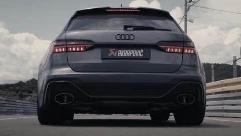 audi rs 6 avant escape akrapovic