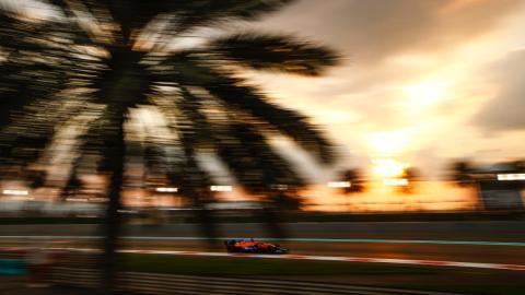 Carlos Sainz en el GP de Abu Dhabi