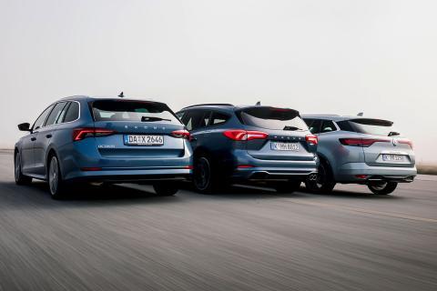 Comparamos el Ford Focus Active Wagon, el Renault Mégane Sport Tourer y el Skoda Octavia Combi