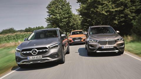 Precios 2021 Audi Q3, BMW X1, Mercedes GLA
