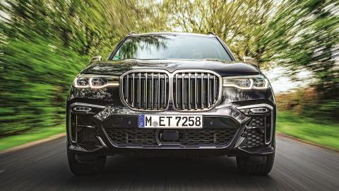 Prueba BMW X7 M50d frontal