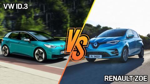 Volkswagen ID 3 o Renault Zoe: ¿cuál tiene más autonomía y es más barato?