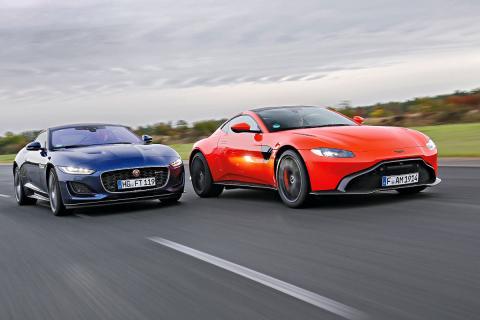 Comparativa: Aston Martin Vantage y el Jaguar F-Type