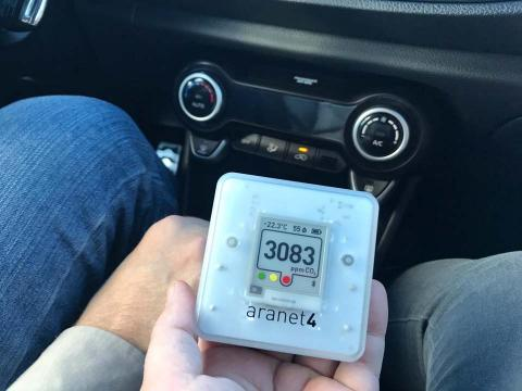 Estos son los momentos de mayor riesgo de contagio en tu coche según un medidor de CO2