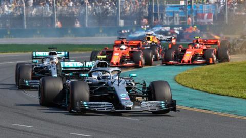 GP Australia F1 salida