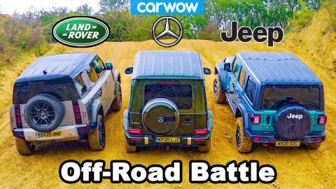 Land Rover Defender, Mercedes Clase G y Jeep Wrangler