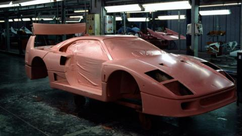 Tres curiosidades de la fabricación del Ferrari F40