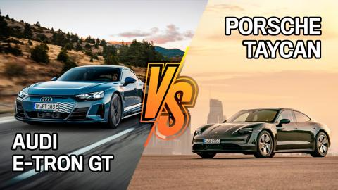 Audi e-tron GT quattro o Porsche Taycan, ¿cuál es mejor?