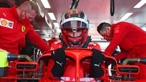 Carlos Sainz en el Circuito de Fiorano