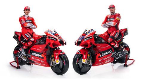 Equipo Ducati MotoGP 2021, con Miller y Bagnaia