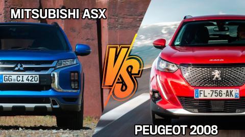 Peugeot 2008 o Mitsubishi ASX 2021, ¿cuál comprar?