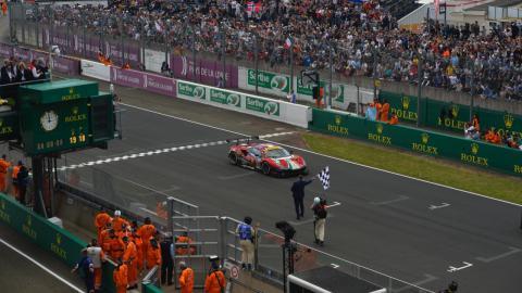 Victoria de Ferrari en Le Mans en 2019