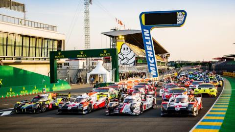 24 Horas de Le Mans foto parrilla