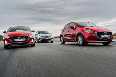 Hyundai i20, Mazda2 y Opel Corsa