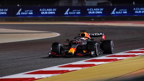 Max Verstappen en Bahrein