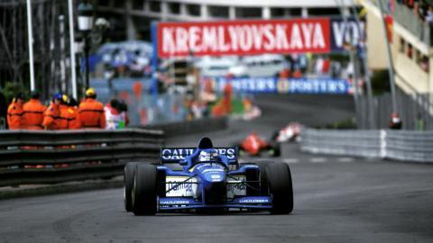 Olivier Panis en el GP de Mónaco de 1996
