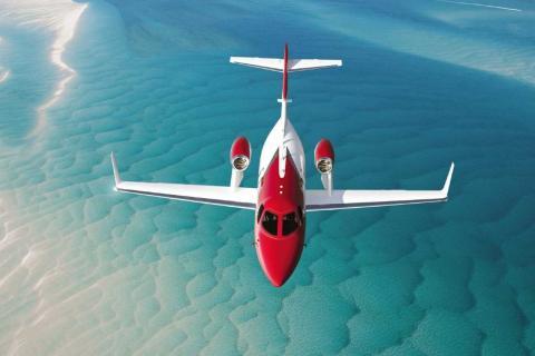 Honda Jet Elite S Business Jet Vista desde arriba