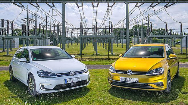 Volkswagen e-Golf vs Volkswagen Golf 1.5 TSI