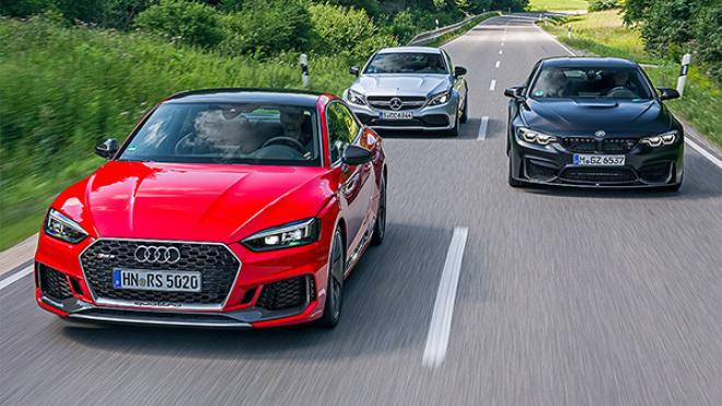 Audi RS 5 High-Performance-GT vs BMW M4 y Mercedes-AMG C 63