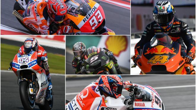 Los 5 triunfadores de MotoGP 2017