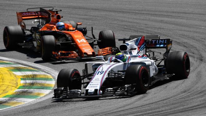 Alonso y Massa en el GP Brasil 2017