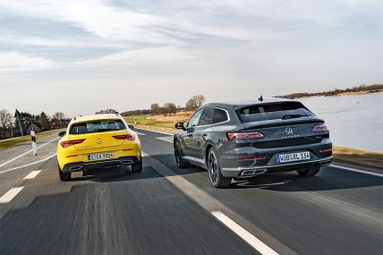 VW Arteon vs Mercedes CLA