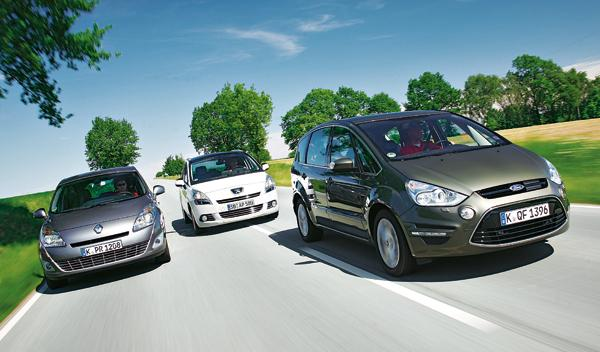 Ford S-Max 2.0 TDCI, Peugeot 5008 2.0 HDi y Renault Grand Scénic 2.0 dCi