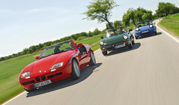 Alfa Spider, BMW Z1 y Mazda MX-5