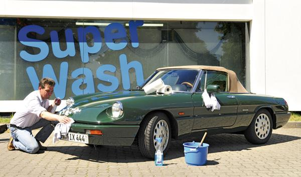 Alfa Spider lavado