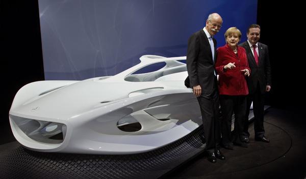 Dieter Zetsche, Angela Merkel y Stefan Mappus