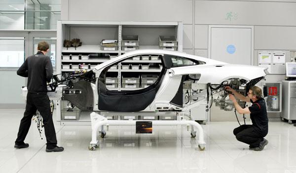McLaren MP4-12C proceso producción